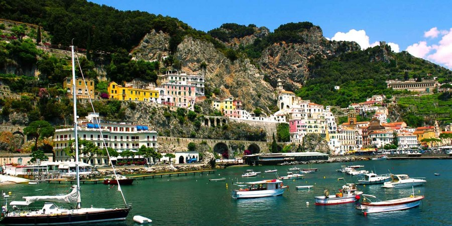 Semi-private Amalfi Coast with boat tour